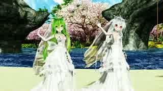 [MMD]ロミオとシンデレラ Haku Gumi weddingdress