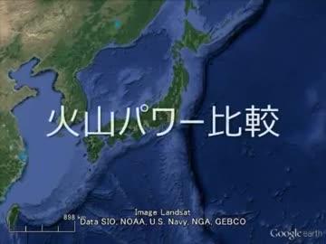 「富士山のフルパワーを1とした場合」のコピペに出てくる火山集 再うp