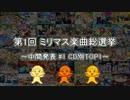 [中間発表 #1]第1回 ミリマス楽曲総選挙[CD別 TOP1]