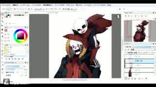 swapfell(red)の骨兄弟を描いてみた