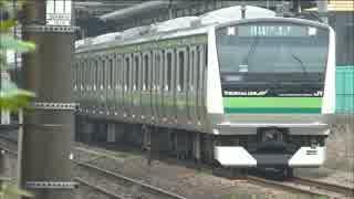 横浜線E233系 ワイパー1本しか動いていない!?