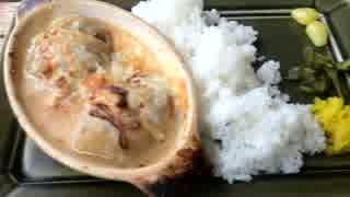 お墓の掃除代行内のカフェでグラタンみたいなロールキャベツを食べた☆