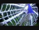 チルノが蜘蛛の巣に捕まって逃げられない!【蜘蛛の巣モデル配布】