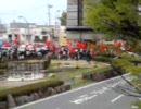 [4/26 10:43]朝日新聞社前に集結 救急車も到着