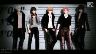 【MMD銀魂】アイドルな5人でBlack Out
