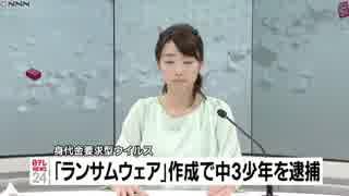 ホモと見るYJSNPIウイルス製作者逮捕(6/5)