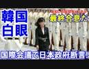【韓国が白眼で発狂】 国際会議で日本政府が断言!悪いのは韓国だ!