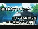週刊東方ランキング 17年6月第5週 <前半>