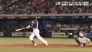 【プロ野球オールスター】西川遥輝の走り打ちとニヤニヤ顔の坂本勇人