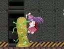 【リョナ】優曇華がモンスターに攻撃を受け続けて悶絶するだけの動画