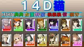 こんな人狼ゲームのお話【13】-配役14D猫