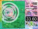 東方天空璋ルナプラクティス1面 満身創痍RTA 文×夏 33秒60