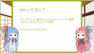 【Voiceroid解説】 Excel VBA講座 パート0