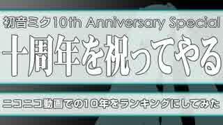 初音ミク10周年記念スペシャル・十周年を