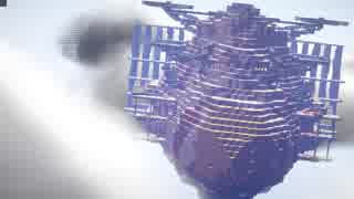 Minecraftで天空の城ラピュタ世界を再現し