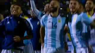メッシハットトリックで出場  & チリ予選敗退(対ブラジル)