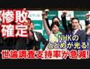 【小池新党の惨敗確定】 NHKのとどめの一
