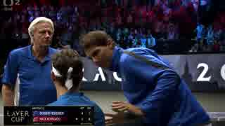 【テニス】フェデラーを必死に応援するラ