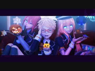 【MMD Touken Ranbu】 Happy Halloween by Ao Oe brother and Awadaguchi Katana