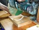 スライド丸鋸で簡単器作り