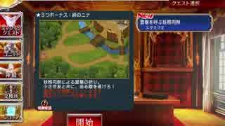アイギス 妖精司祭ノエル 交流クエスト☆3 豊穣を呼ぶ妖精司祭