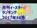 月刊イースター☆ランキング2017年10月号