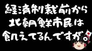 【ゆ保】国連から来た方「経済制裁で北朝鮮の一般市民が飢えている!」