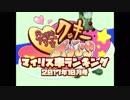 月刊クッキー☆マイリス率ランキング.2017.10