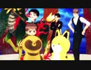 【進撃のMMD】タヌキとキツネとチビちゃんの桃源幻想記【ジャンル混合】