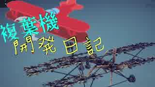 【Besiege】ゆっくりの複葉機開発記【2日