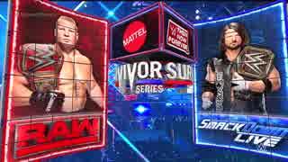 【WWE】ユニバーサル王者レスナー  vs WWE王者AJスタイルズ【SvS17】