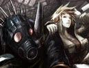 ガスマスク男と混沌の街、描いてみた