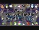 [最終結果] 第2回 デレマス楽曲総選挙 [総合結果 BEST100]