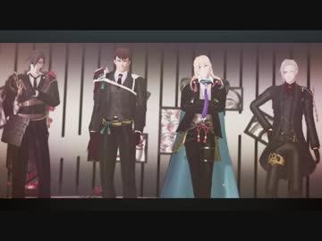 """【MMD Touken Ranbu】 The long-haired faction """"Cherry Hunt"""""""