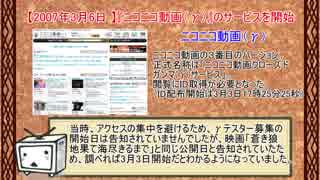 ニコニコ動画の流行した動画、話題を振り返ってみた【(γ)時代】前編