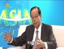 福田康夫元総理、中国メディアのインタビューに答える