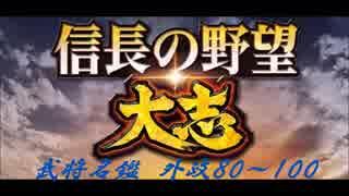 信長の野望・大志 武将名鑑 外政80~100