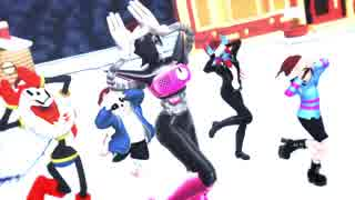 【MMD】Mettaton EXたちで好き!雪!本気