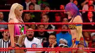 【WWE】アレクサ・ブリスとアスカのセグメ