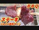 ステーキにんにく串焼き!③【1080pテスト】【BBQ修造】33-③