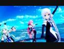 【MMD艦これ】改白露型三姉妹でBREEZE(修正版・1080p)