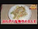 【おとなのねこまんま555】Part146_長ねぎの塩麹炒めまんま