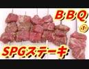 【ステーキ串焼き】100円SPG編①【BBQ修造】36-①