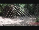 ホモと学ぶ草テントの作り方.Primitive Technology