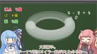 琴葉茜の数学教室 穴の個数を数えよう!