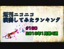 週刊ニコニコ演奏してみたランキング #160 1月第4週