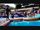 鈴鹿サーキット:みんなの冒険プールで色々な滑り台をすべるあい!