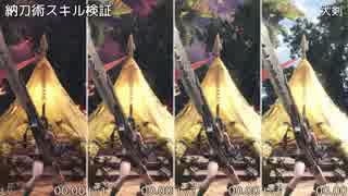 【MHW】納刀術スキル比較検証【全14武器】