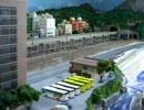 鉄道模型  新幹線500系 ジオラマを走る