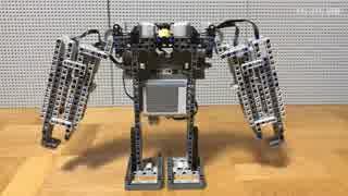 レゴで腕が伸びるロボットを作って谷を越